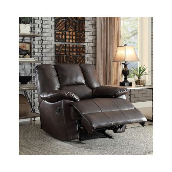 Oliver Glider Recliner Motion in Dark Brown Leather-Aire