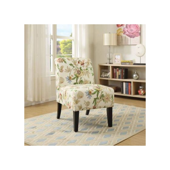 Ollano Accent Chair with Floral Fabric Finish