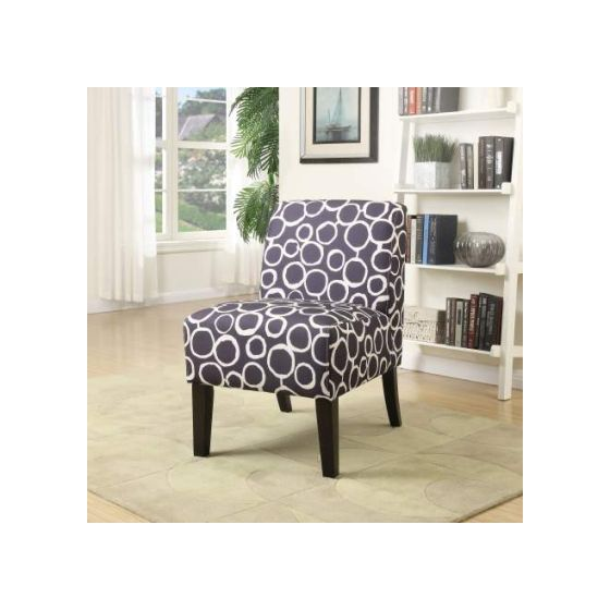 Ollano Accent Chair with Pattern Fabric Finish