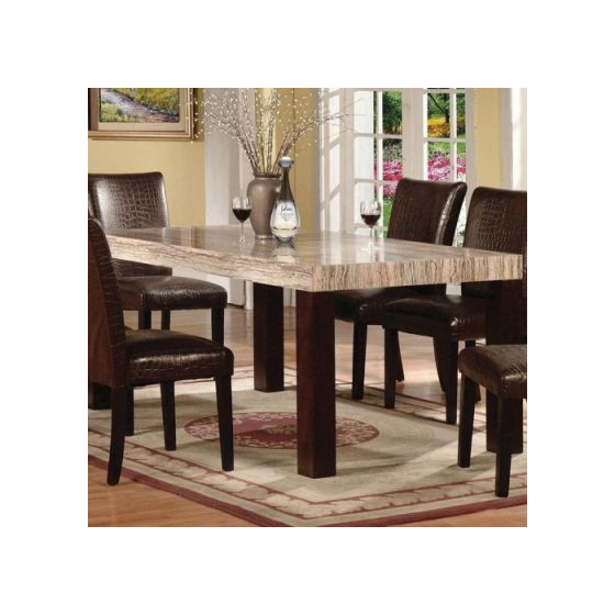 Fraser Faux Marble Dining Table Espresso Finish