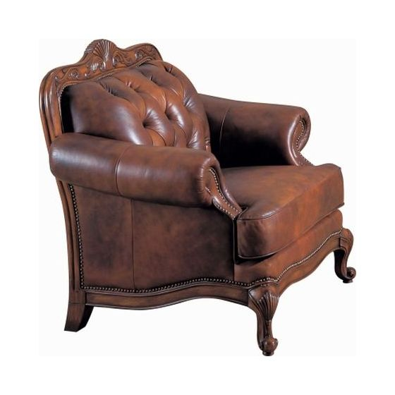 Victoria Rolled Arm Leather Chair