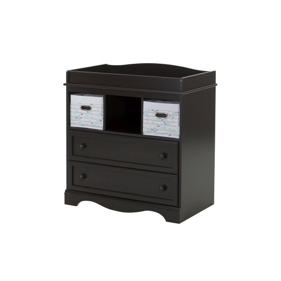 Savannah Changing Table with 2 Nursery Baskets Espresso