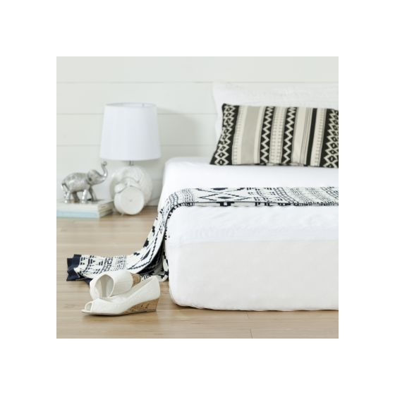 Somea White Basic 8'' Twin Mattress with Mattress Cover
