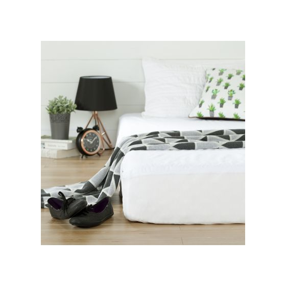 Somea White Basic 8'' Full-Size Mattress with Cover