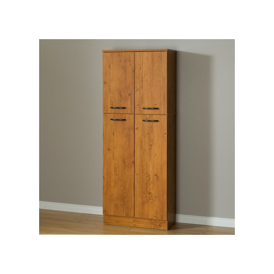 Axess 4-Door Storage Pantry Country Pine