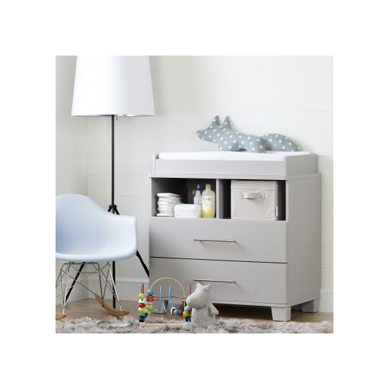 Cuddly Changing Table/Dresser Soft Gray