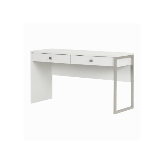 Interface Desk with 2 Drawers Pure White