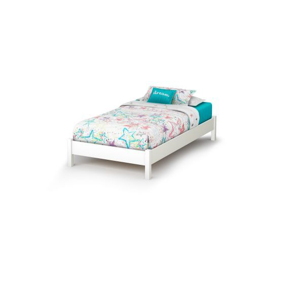 Step One Twin Platform Bed (39'') Pure White