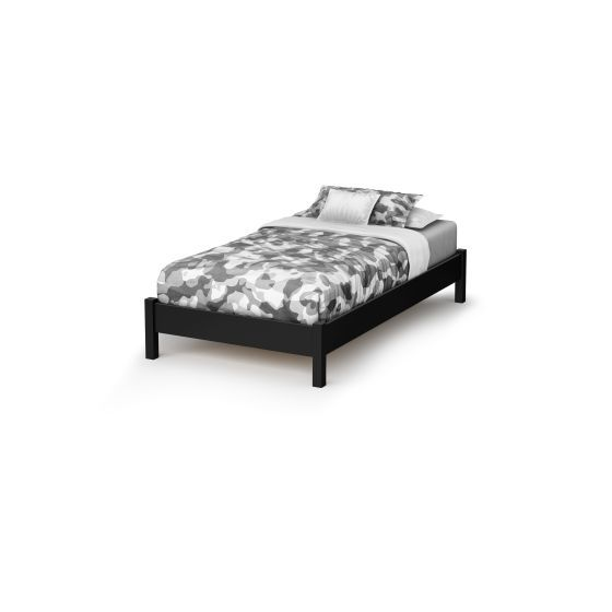 Step One Twin Platform Bed (39'') Pure Black