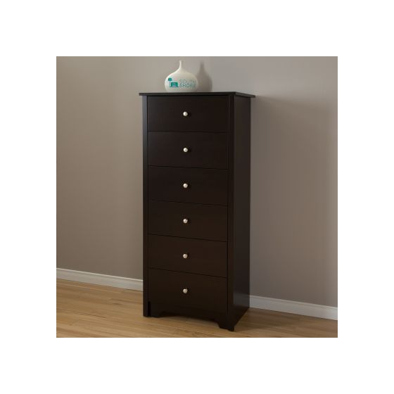 Vito 6-Drawer Chest Chocolate