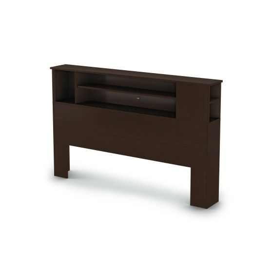 Vito Full/Queen Bookcase Headboard (54/60'') Chocolate