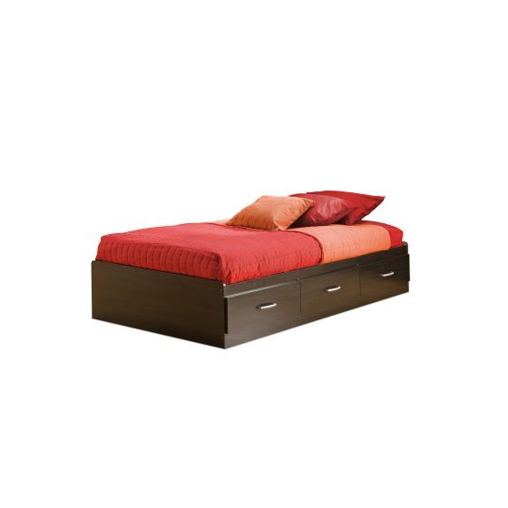 Cosmos Twin Mates Bed with 3 Drawers Black Onyx