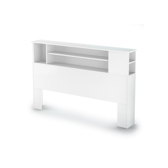 Vito Full/Queen Bookcase Headboard (54/60'') Pure White