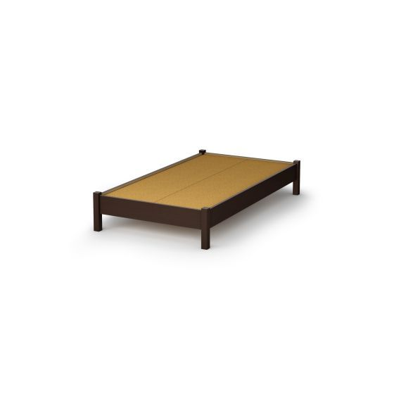 Step One Twin Platform Bed (39'') Chocolate
