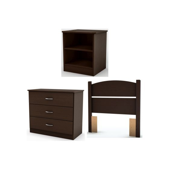 Libra Twin 3-Piece Bedroom in a Box Chocolate