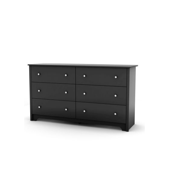 Vito 6-Drawer Double Dresser Pure Black