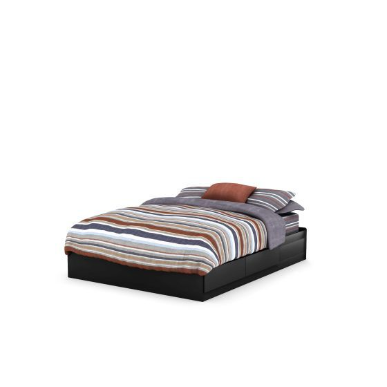 Vito Queen Mates Bed (60'') Pure Black