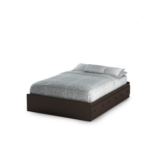 Summer Breeze Full Mates Bed with 3 Drawers in Chocolate