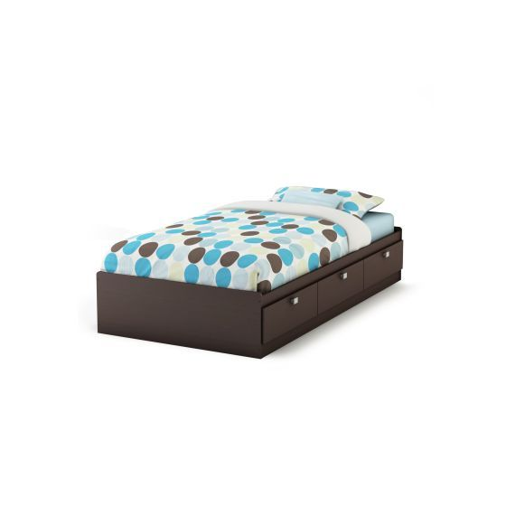 Spark Twin Mates Bed with 3 Drawers Chocolate