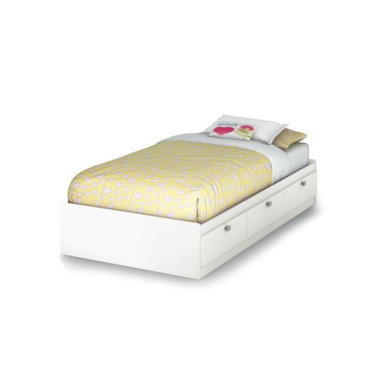 Spark Twin Mates Bed with 3 Drawers Pure White