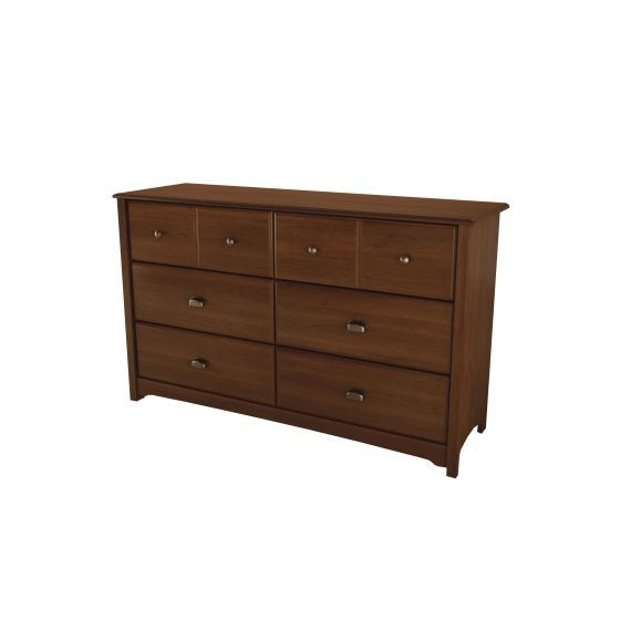 Willow 6-Drawer Double Dresser Sumptuous Cherry