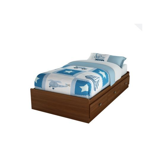 Willow Twin Mates Bed with 3 Drawers in Cherry
