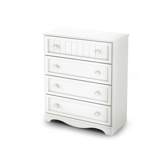 Savannah 4-Drawer Chest Pure White