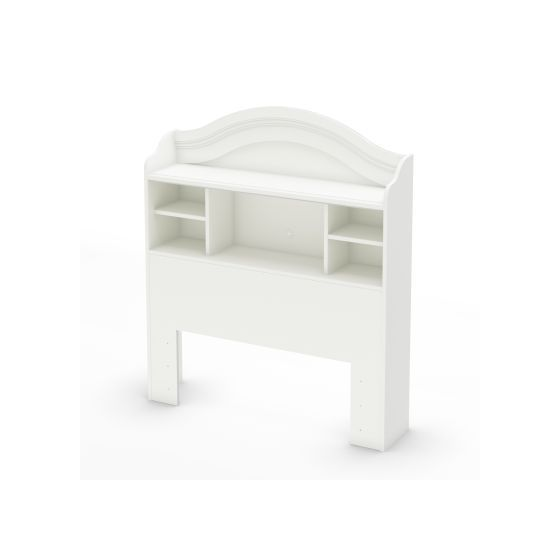 Savannah Twin Bookcase Headboard 39 39 39 Pure White Beds Bedroom