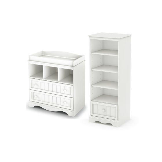 Savannah Changing Table and Shelving Unit in White