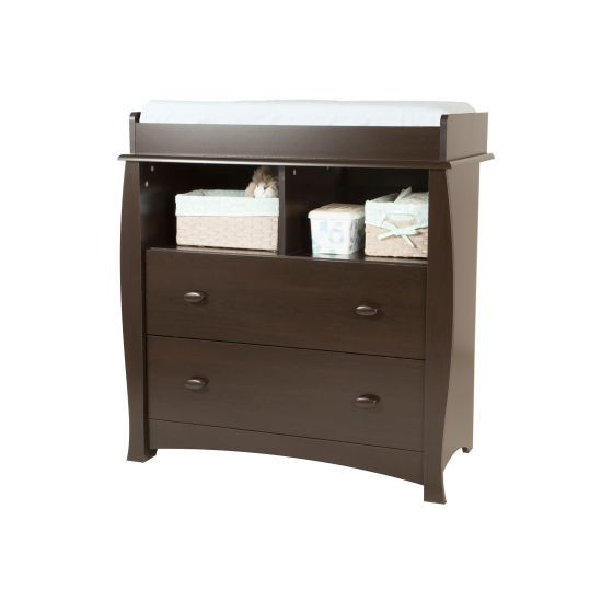 Beehive Changing Table with Removable Station in Espresso
