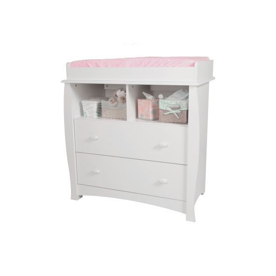 Beehive Changing Table with Removable Station in White
