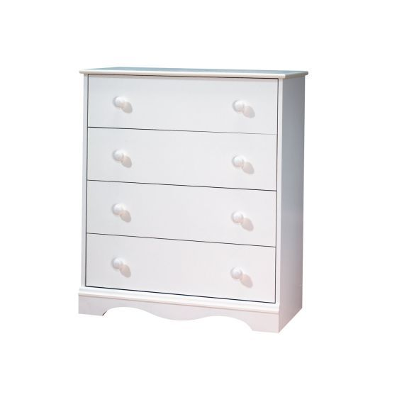 Angel 4-Drawer Ginny's Chest Pure White