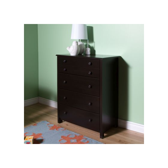 Little Smileys 4-Drawer Chest Espresso
