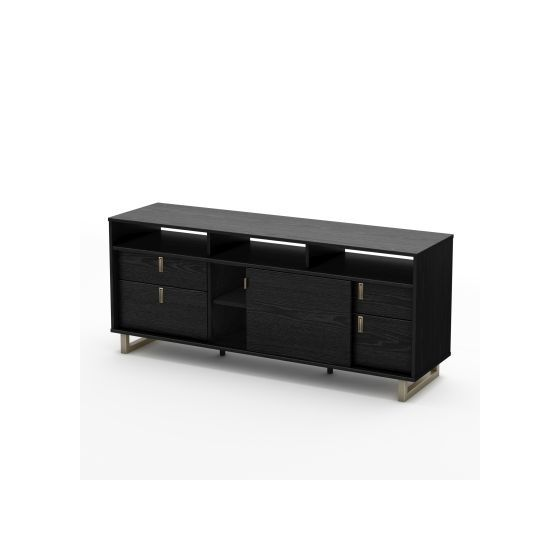 Uber TV Stand Black Oak