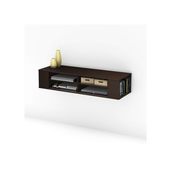 City Life Wall mounted media console Chocolate