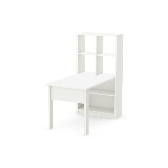 Annexe Work Table and Storage Unit Combo Pure White