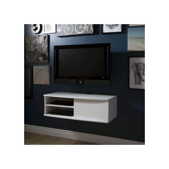 Agora 38'' Wide Wall Mounted Media Console Pure White