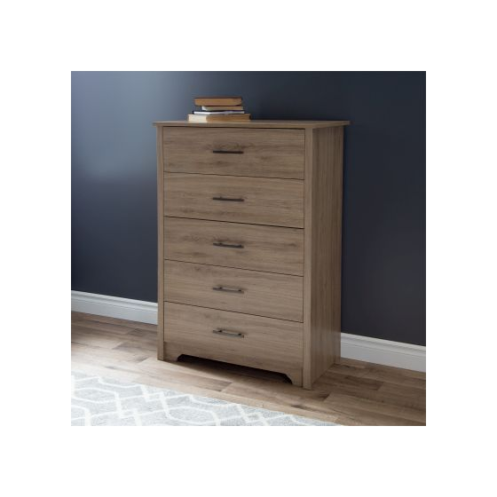 Fusion 5-Drawer Chest Rustic Oak