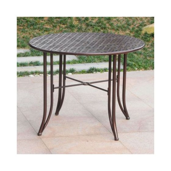 Mandalay Iron Outdoor 39'' Dining Table in Bronze