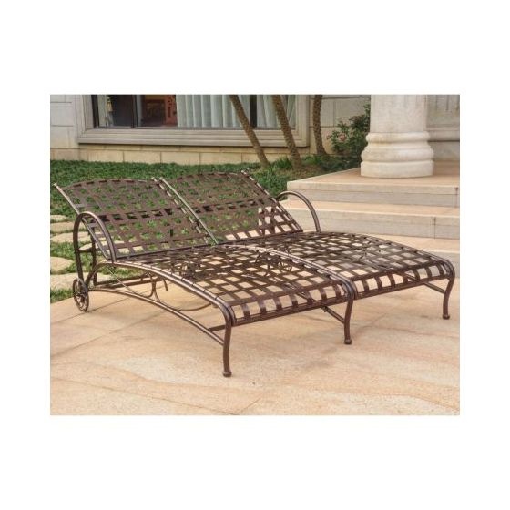 Groovy Santa Fe Nailhead Double Chaise Lounge In Bronze Bralicious Painted Fabric Chair Ideas Braliciousco