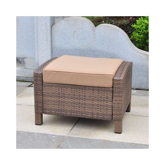 Barcelona Resin Ottoman in Antique Brown