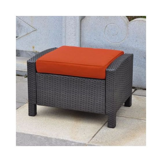Barcelona Resin Ottoman in Black Antique