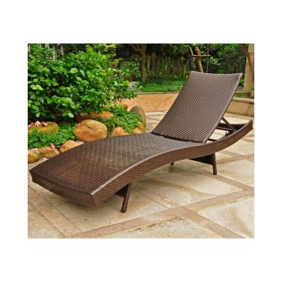Barcelona Resin Chaise Lounge In Chocolate Outdoor Lounges Seating Furniture