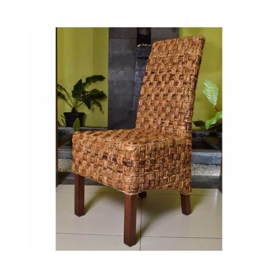 Victor Woven Abaca Dining Chair in Salak Brown