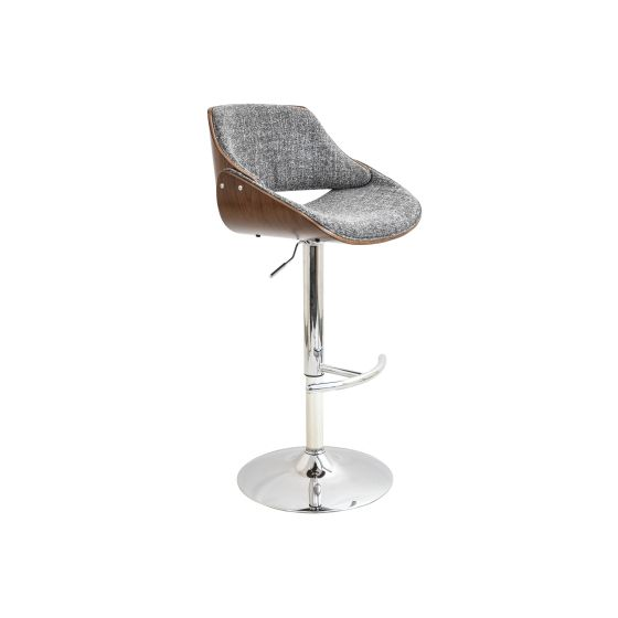 Fabrizzi Barstool in Walnut & Grey