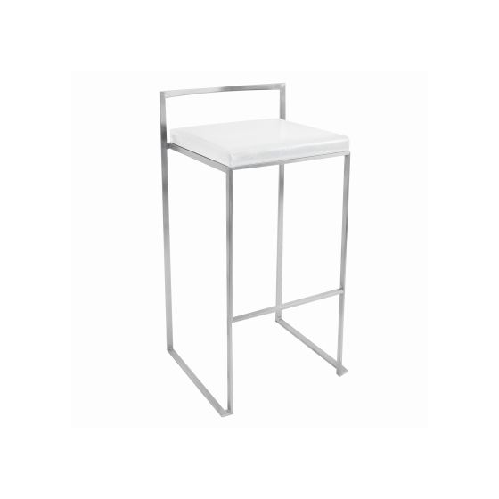 Fuji Barstool in White