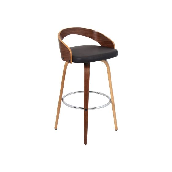 Grotto Barstool in Walnut Brown