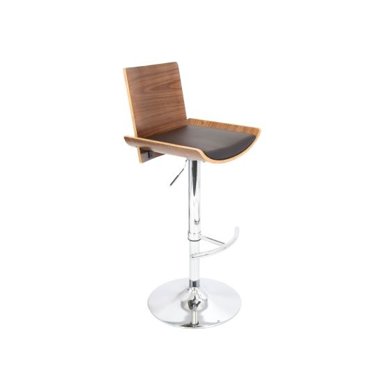 Vittorio Barstool in Walnut Brown