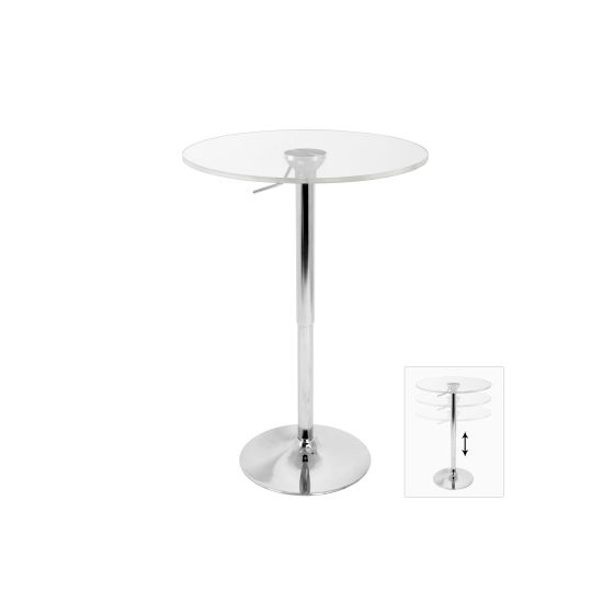 Adjustable Bar Table in Clear