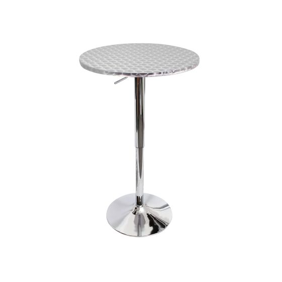 Bistro Round Bar Table in Silver